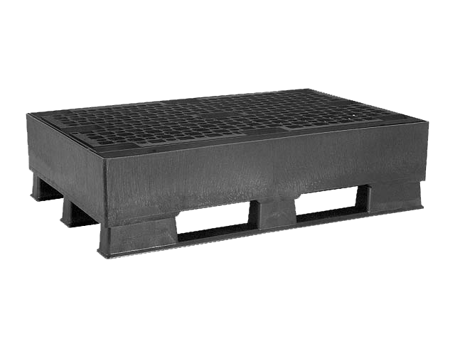 Pallet Tub 120 Liters with Plastic Grid