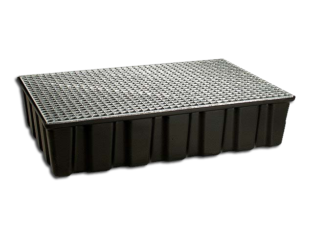 Drip pan 200 Liters with galvanized Grid