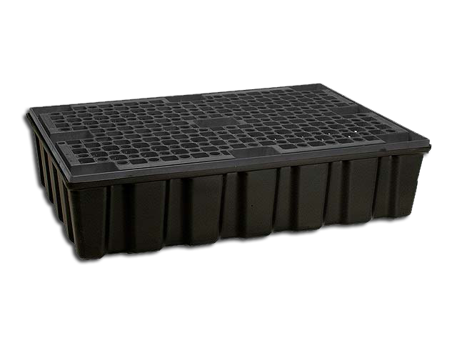 Drip pan 200 Liter with Plastic-Grid