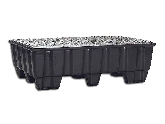Pallet tub 215 Liters Feet with galvanized Grid