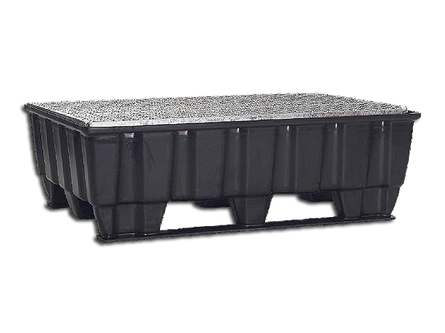 Pallet tub 215 Liters Runner with galvanized Grid