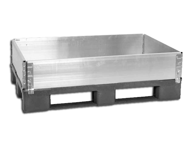 Pallet Collar 1200 x 1200 mm with 4 Hinges - AL