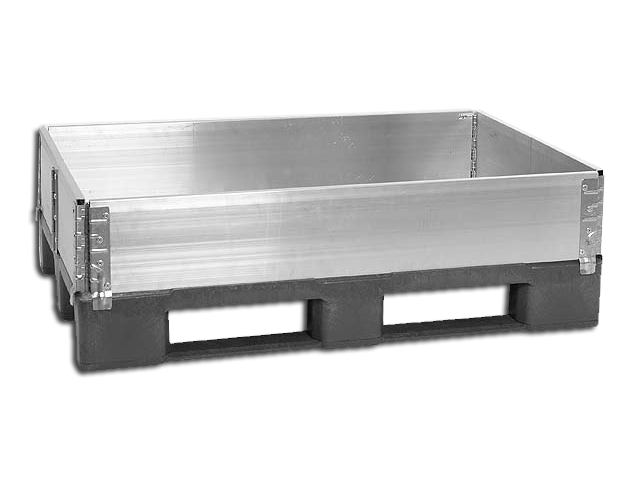 Pallet Collar 1200 x 1200 mm with 6 Hinges - AL