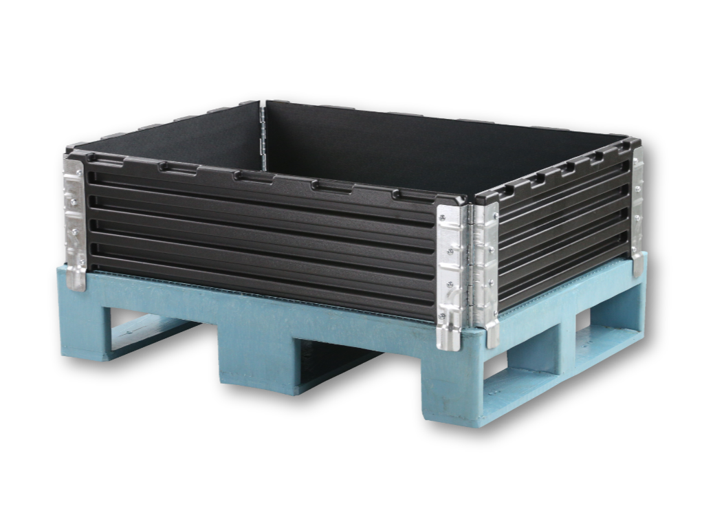 Plastic Pallet Collar 600 x 800 mm with 4 Hinges