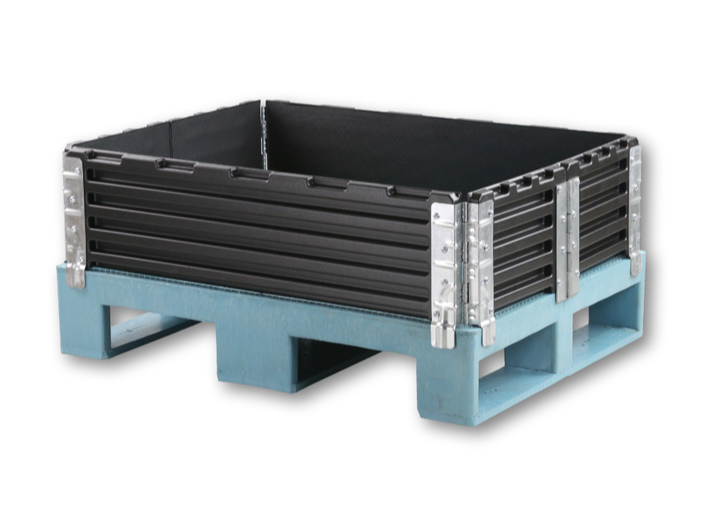Plastic Pallet Collar 600 x 800 mm with 6 Hinges
